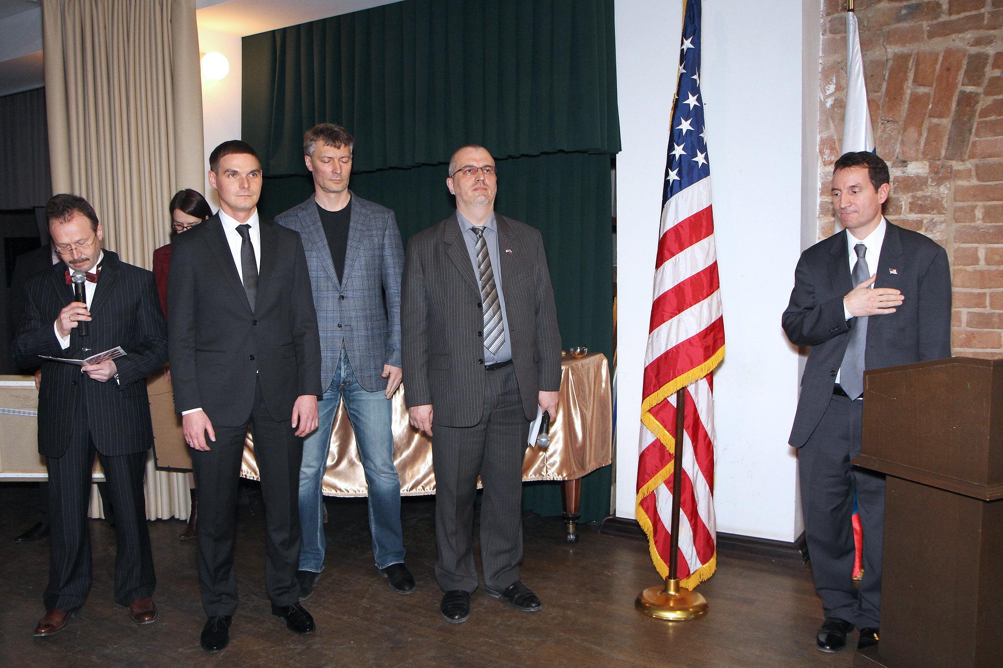 Приём ГК США в г. Екатеринбурге в Музее истории Екатеринбурга с участием руководителей антироссийских НКО, 20 марта 2014 года.