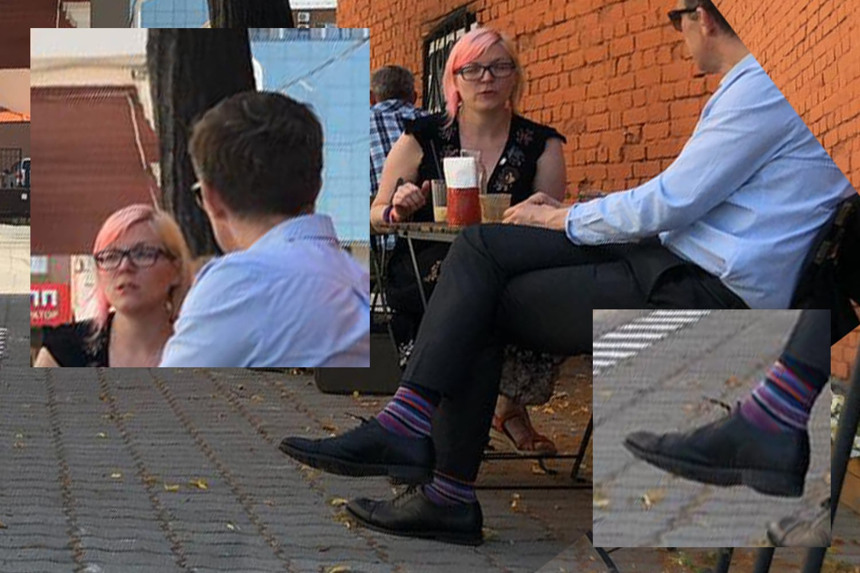 генеральный консул Великобритании в г.Екатеринбурге Ричард Дьюэлл и координатор мероприятий Ресурсного центра для ЛГБТ+ Алла Чикинда.