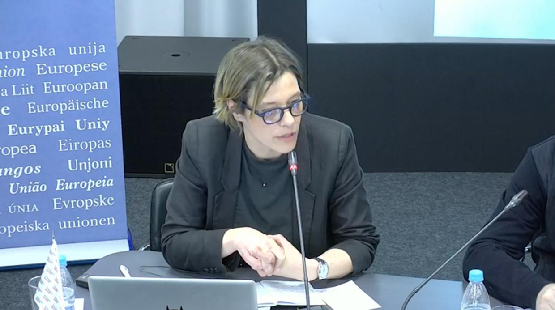 Ивана Драгичевич на антироссийской конференции