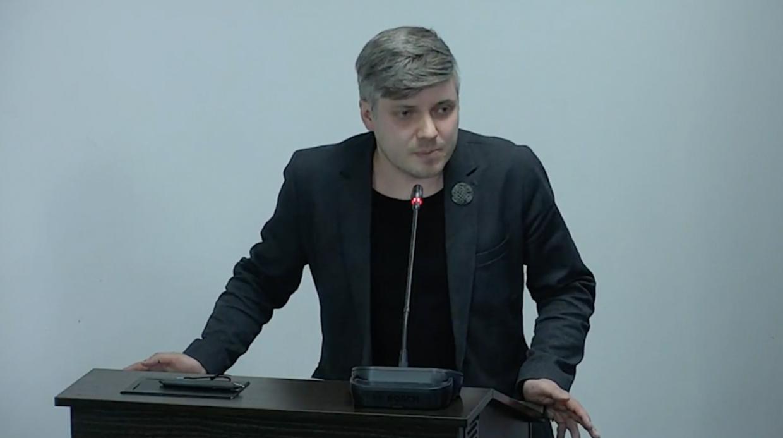 Денис Корнеевский на антироссийской конференции