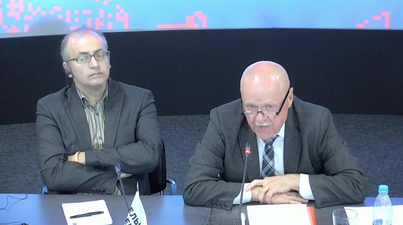 Борис Лозовский и Веласкес Рикардо Гутьеррес на антироссийской конференции