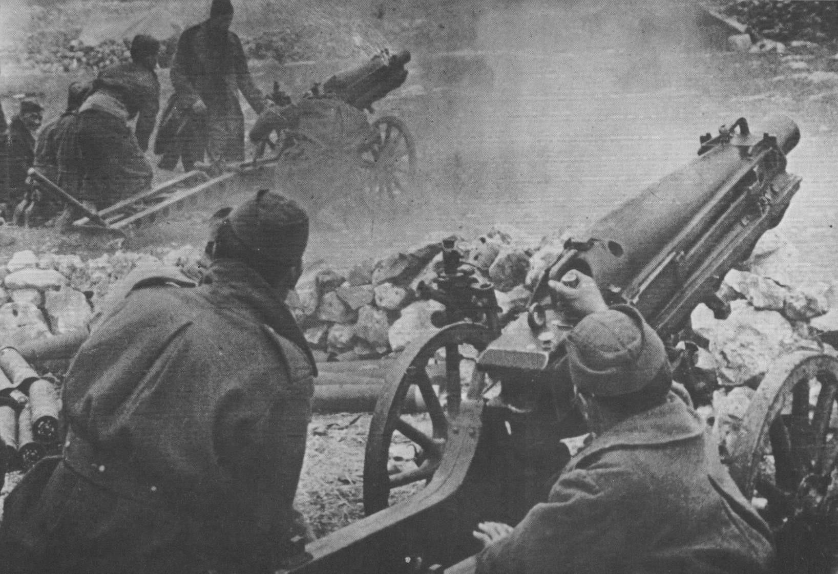 artilleristy armii yugoslavii v boyu za gorod knin