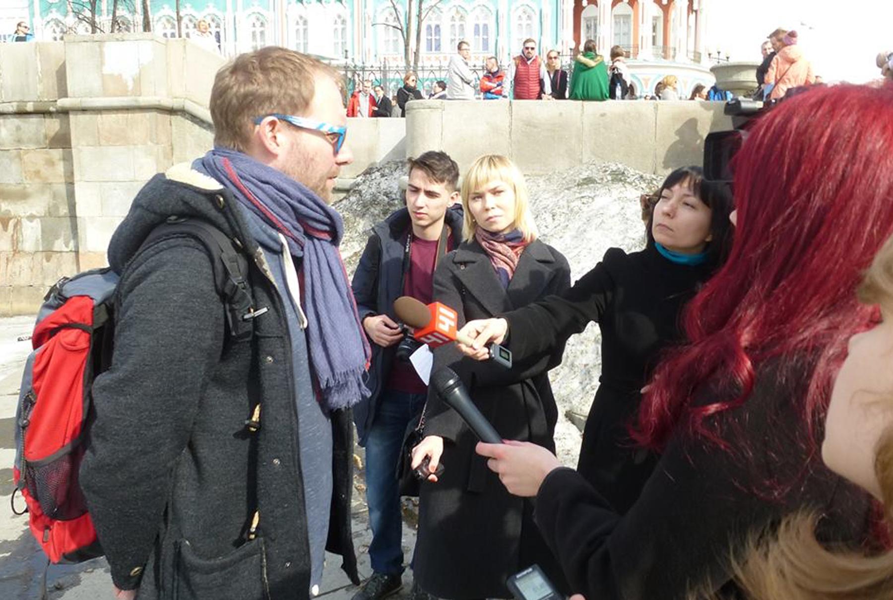 Дмитрий Москвин на акции