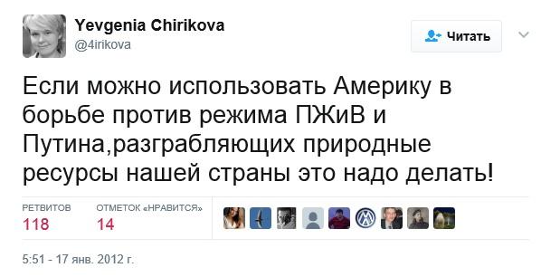В 2007 году была организована протестная группа «Движение в защиту Химкинского леса», которая возглавила Евгения Чирикова, известная тесными связями с послом США в России Майклом Макфолом и призывами к свержению действующего Президента России.
