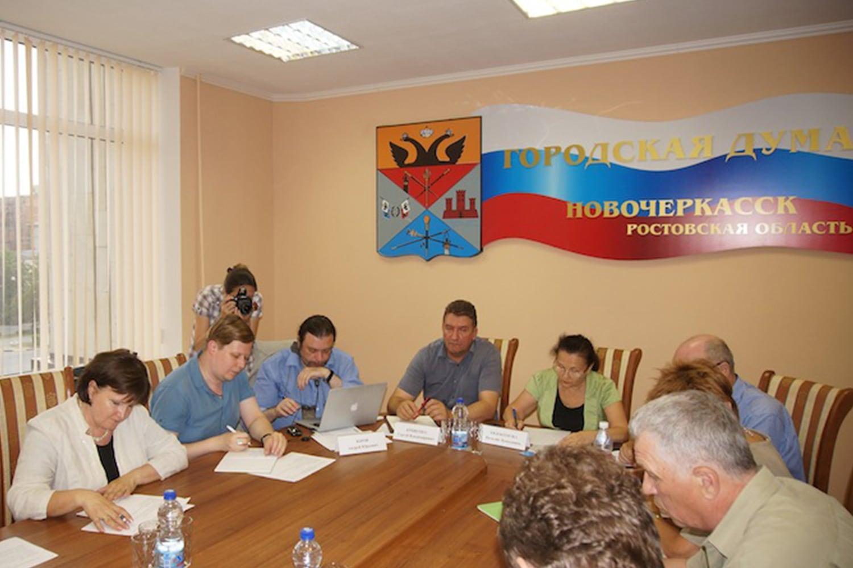 Члены СПЧ Андрей Юров, Сергей Кривенко и Наталья Евдокимова в Новочеркасске.