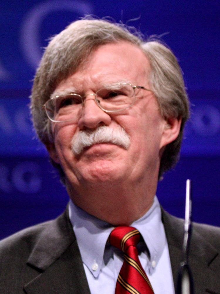 Джон Болтон, американский политик, советник президента США по национальной безопасности (с 9 апреля 2018 года).
