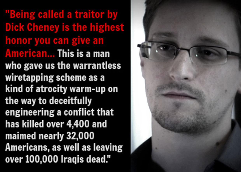 Эдвард Сноуден о Дике Чейни