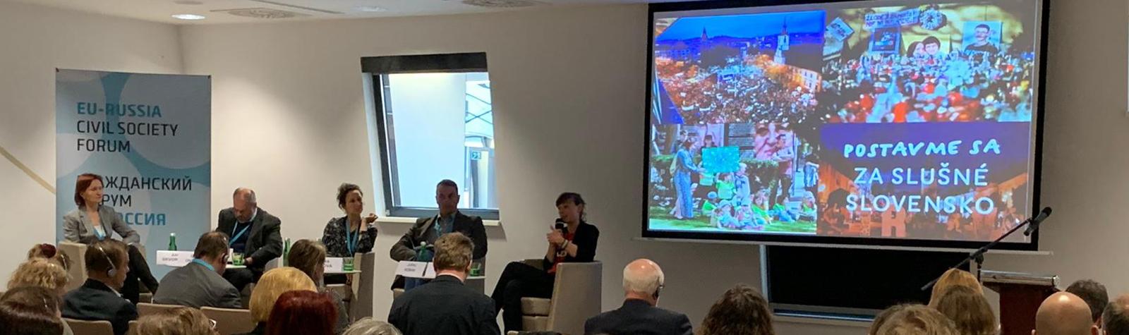 Гражданский форум ЕС-Россия: в Братиславе иностранные агенты обсудили способы возвращения России на демократический курс