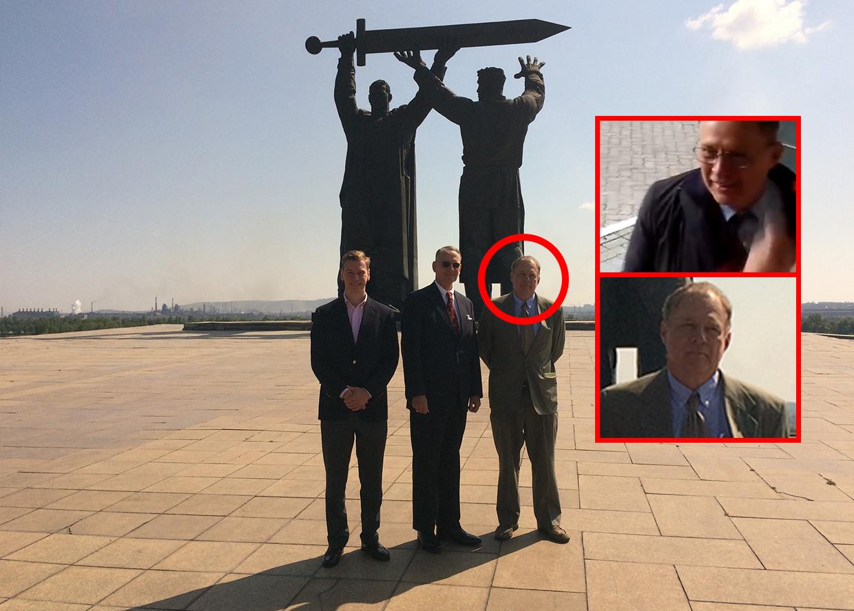 Джордж Картер, Генеральный консул США д-р Пол Картер и консул по политическим и экономическим вопросам Джон Таккер в Магнитогорске