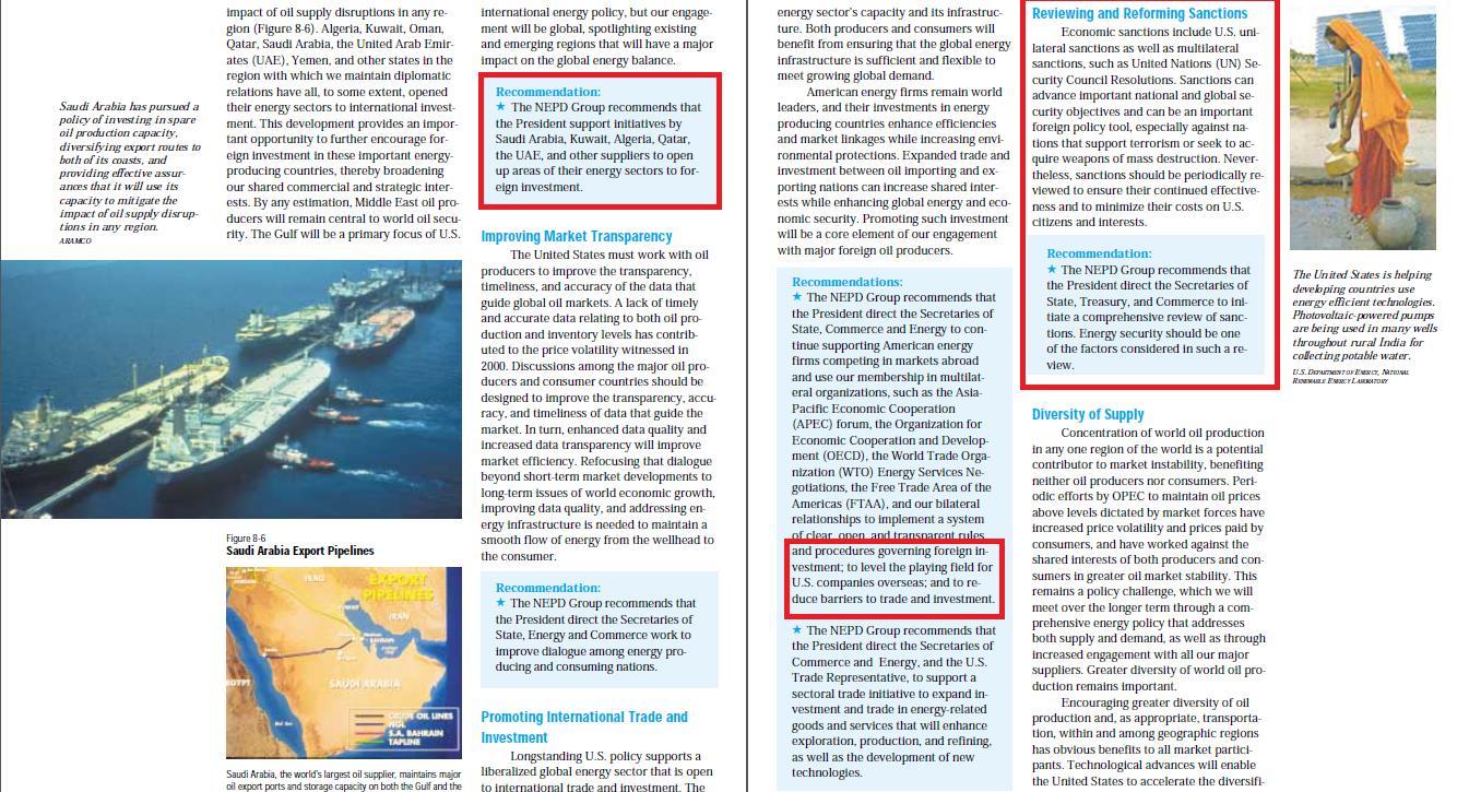 Выдержки из «План Чейни» по захвату мировых нефтегазовых ресурсов