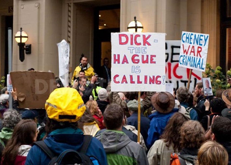 Акция против Чейни в Ванкувере
