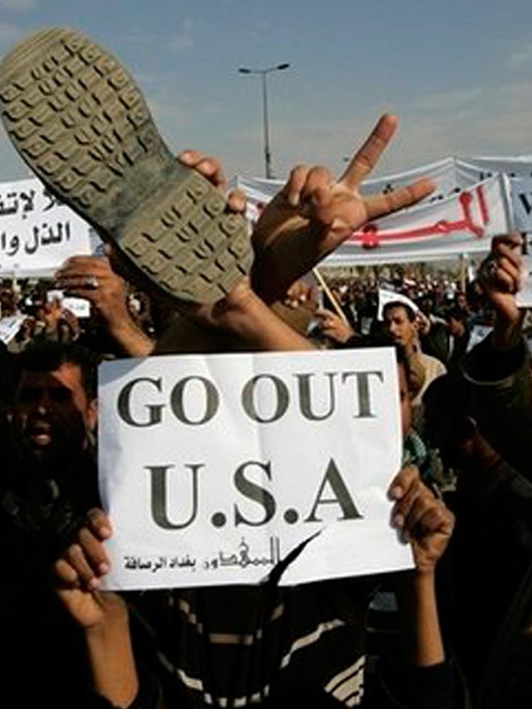 Протесты в Ираке против войны США